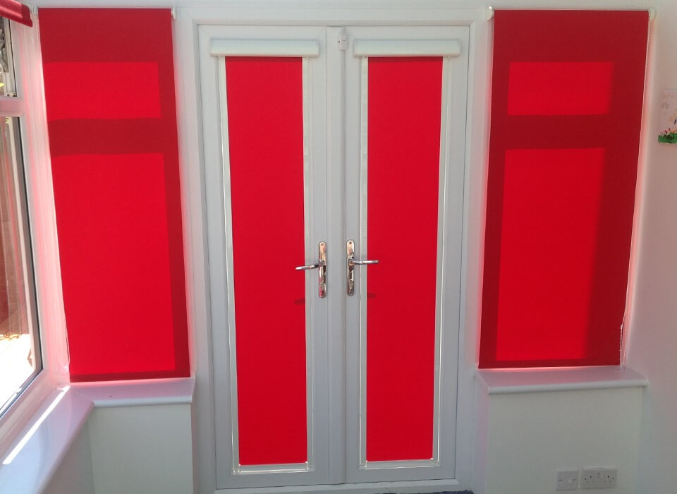 Patio Door Bi Folding Door Blinds A Z Blinds Runcorn