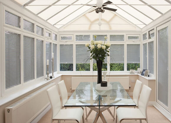 Electric motorised conservatory Blinds Liverpool