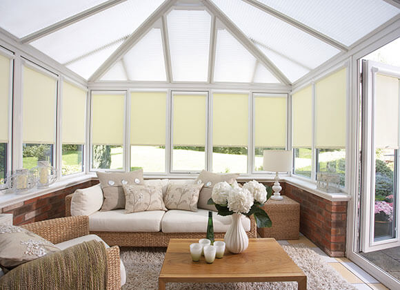 Energy-Saving conservatory cream white Blinds