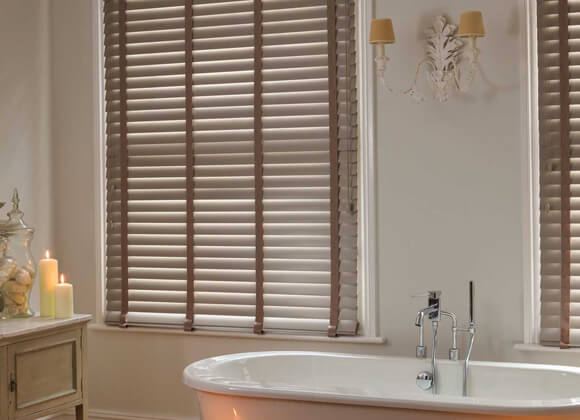 Faux Wood Venetian Bathroom Blinds