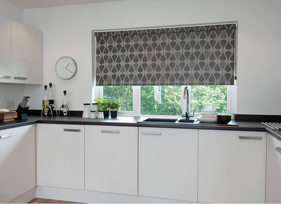 Gray Kitchen roller Blind