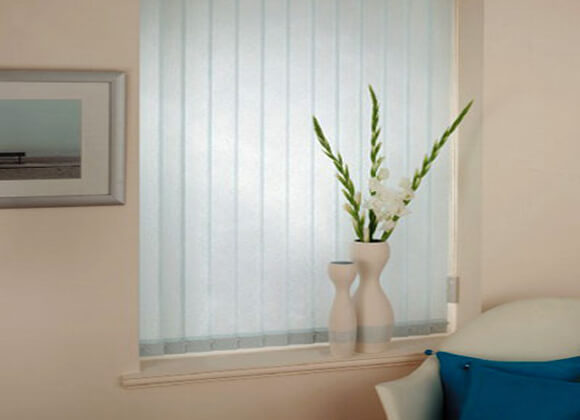 Hallway vertical blinds