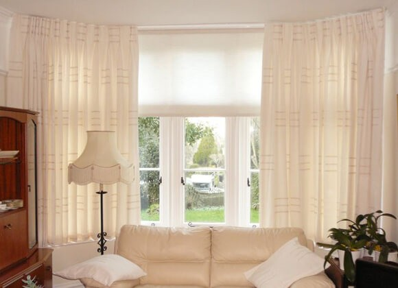 Made to measure Curtains and blinds combo