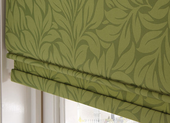 Roman Blinds Green Floral