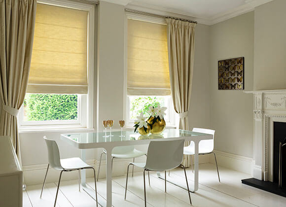 Roman Dinning room blinds