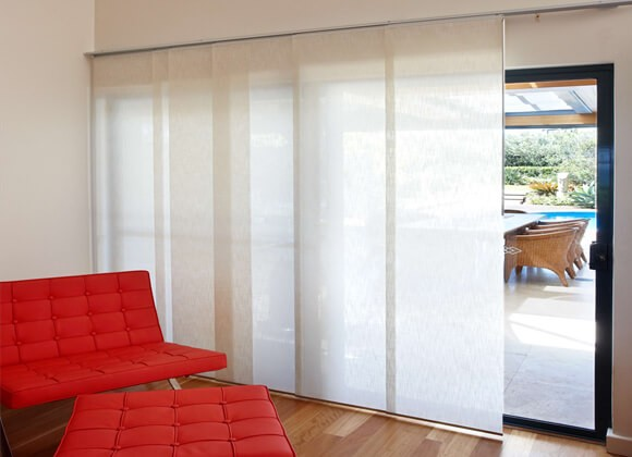 White Panel Blinds