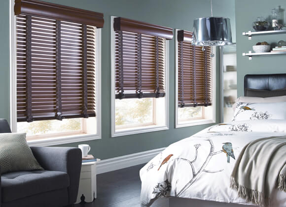 Wooden Venetian Blinds Bedroom