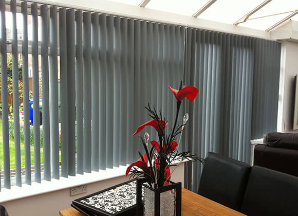 conservatory Blinds gray