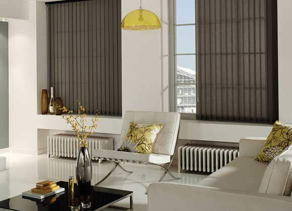 vertical blind flint grey