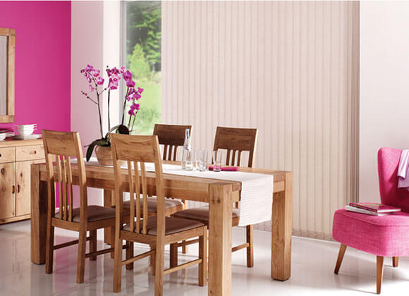 vertical dining room cream blinds
