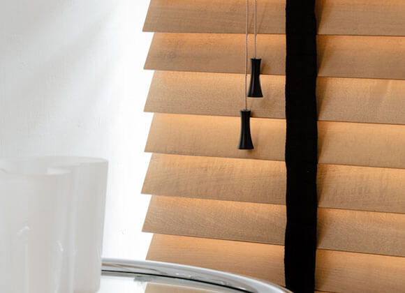 wood an black blinds