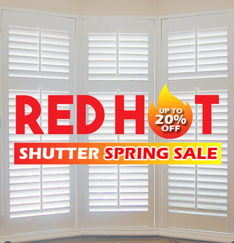 Red hot Shutters Spring Sale-A-Z-Blinds Runcorn and Liverpool