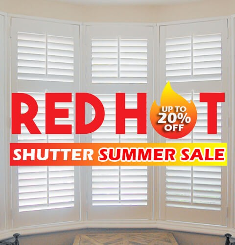 Red hot Shutter Summer Sale-A-Z-Blinds Runcorn and Liverpool