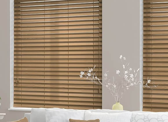 Faux Wood Blinds Light