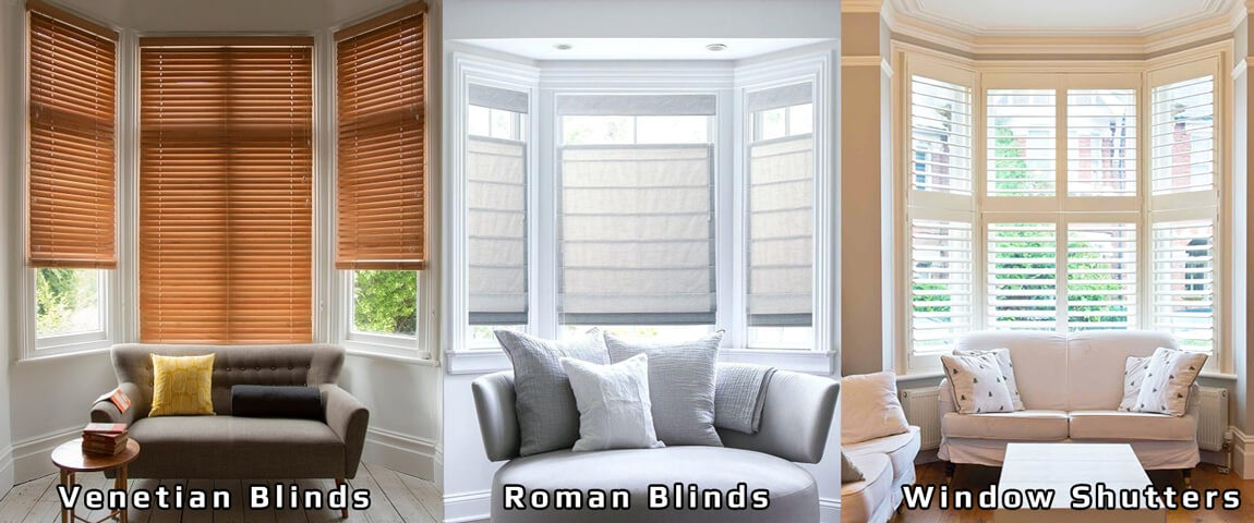 Bay Window Blinds and Window Shutters