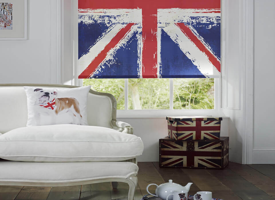 Digitally Printed Blinds British Flag