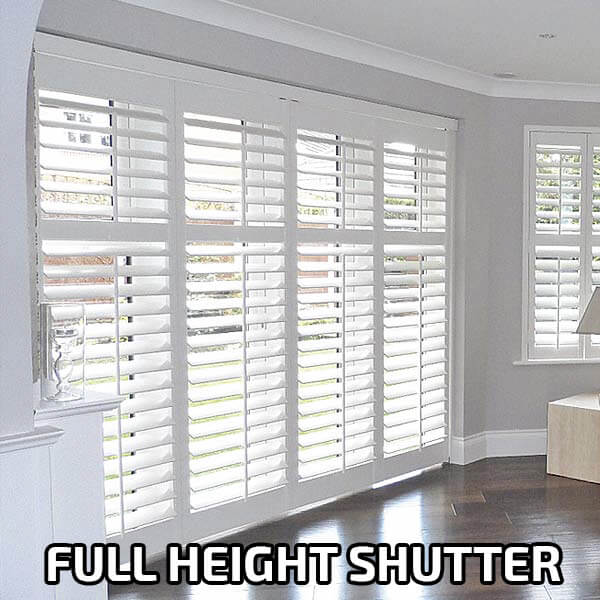 Full Height Shutters A-Z Blinds and Shutters Runcorn